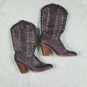 Miranda by Miranda Lambert heel cowboy boots EUC